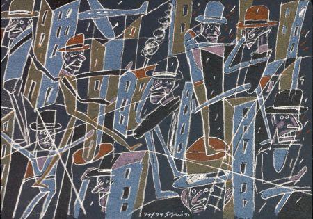 リトグラフ Segui - Le froid bleu des contre nuits 6
