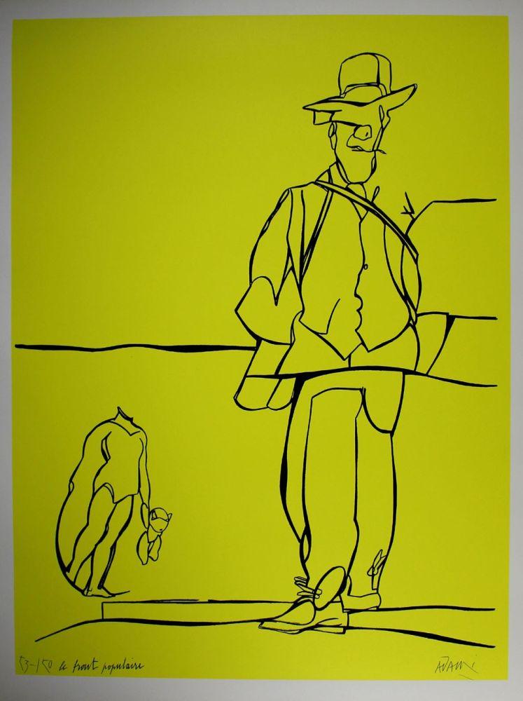 リトグラフ Adami - Le front populaire