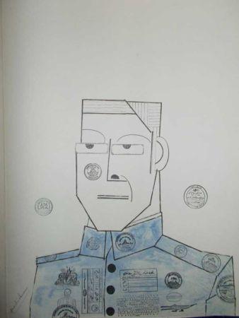 リトグラフ Steinberg - Le Général