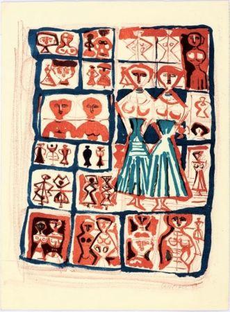 リトグラフ Campigli - Le gemelle