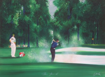 リトグラフ Spahn - Le golfeur