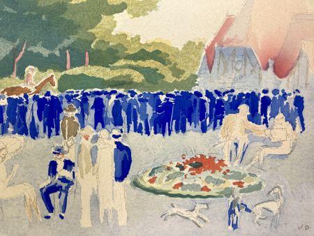 ステンシル Van Dongen - Le Grand prix de Normandie. Pochoir, 1920.