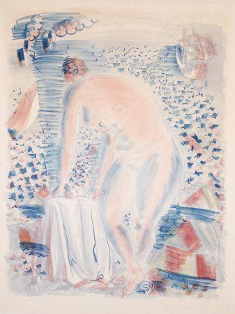 リトグラフ Dufy -  Le grande Baigneuse (The large Bather)