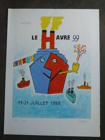 リトグラフ Savignac - Le Havre 1999