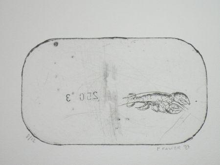 エッチング Favier - Le homard (série des mousselines)