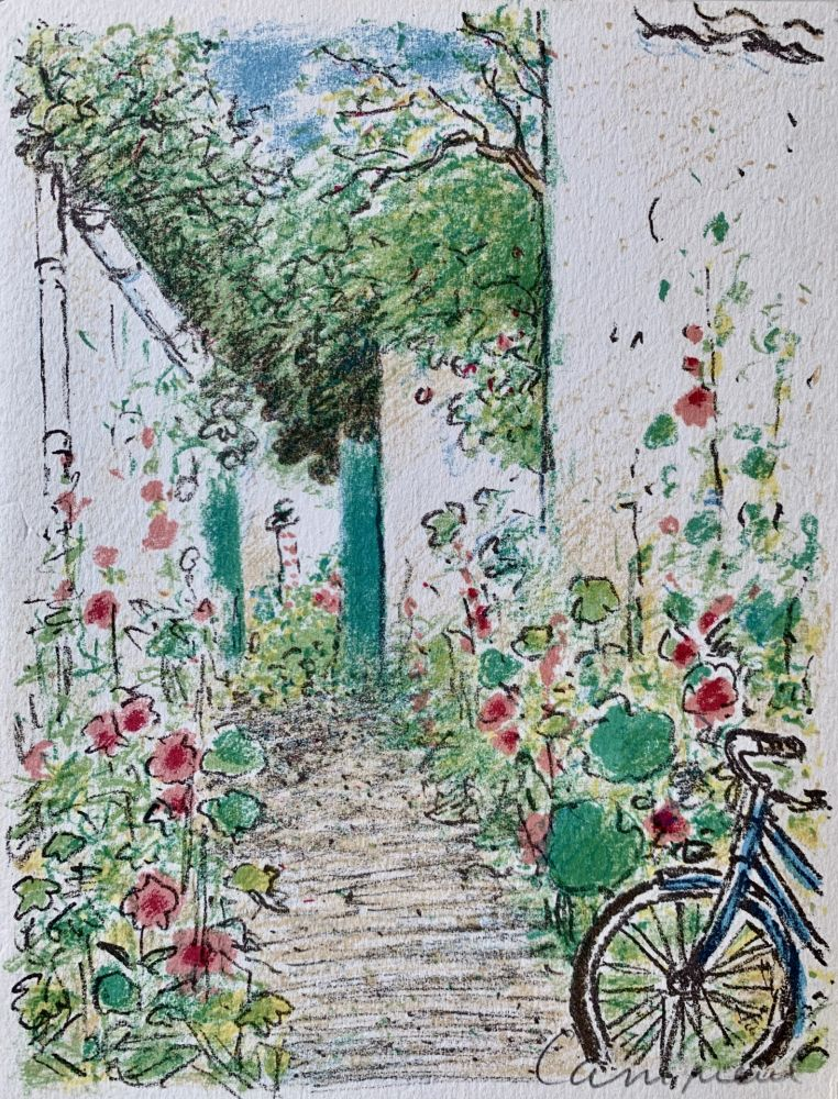 リトグラフ Cassigneul  - Le Jardin