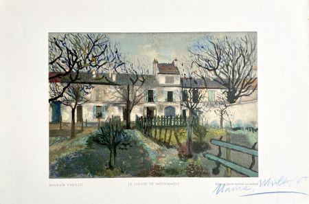 木版 Utrillo - Le Jardin de Montmagny