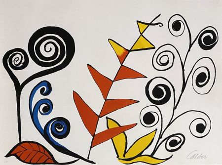リトグラフ Calder - Le jardin fantastique