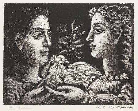 リトグラフ Picasso - Le Jeneusse