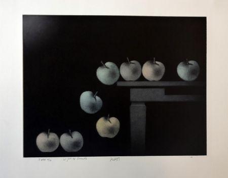 メゾチント彫法 Avati - Le jeu de pommes