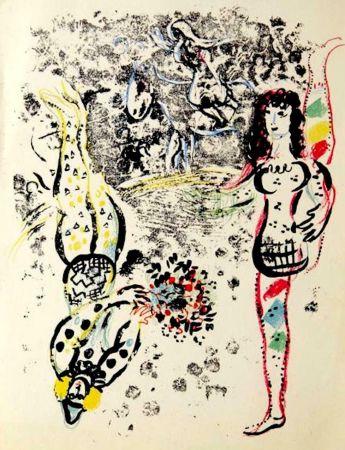 リトグラフ Chagall - Le Jeu des Acrobates