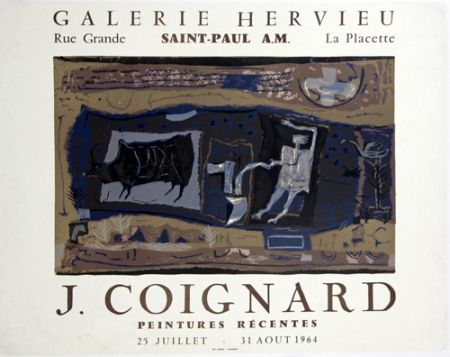 リトグラフ Coignard - Le Laboureur Galerie Hervieu Saint Paul