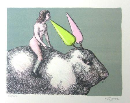 リトグラフ Topor - Le lapin