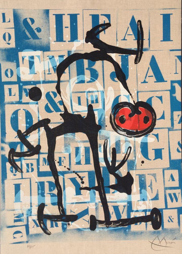 リトグラフ Miró - Le Lettre - Rouge