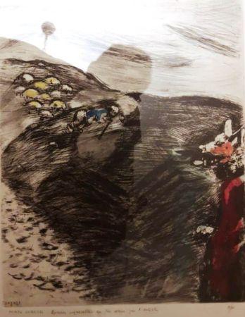 エッチング Chagall - Le loup devenu berger