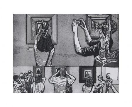 エッチングと アクチアント Collin - Le Louvre salle 38 - Vermeer