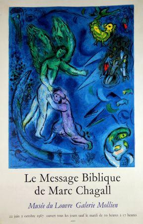リトグラフ Chagall - Le Message Biblique Musee Du Louvre Galerie Mollien