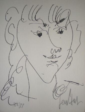 リトグラフ Paul  - Le modèle, portrait de Lola