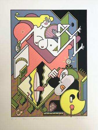 シルクスクリーン Gerbaud - Le Modèle Willem