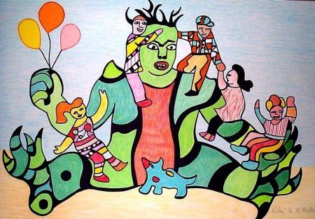 リトグラフ De Saint Phalle - Le monstre