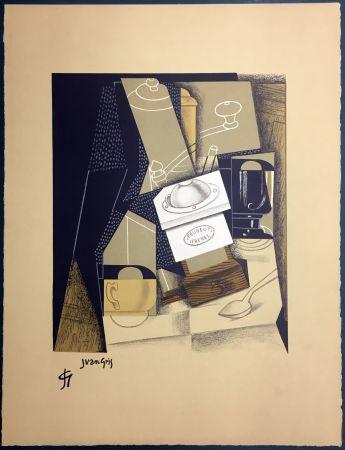 リトグラフ Gris  - Le moulin à café. Lithographie (1955).