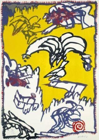 リトグラフ Alechinsky - Le mythe de Cobra