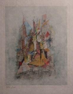 彫版 Wols - Le navire dans la ville