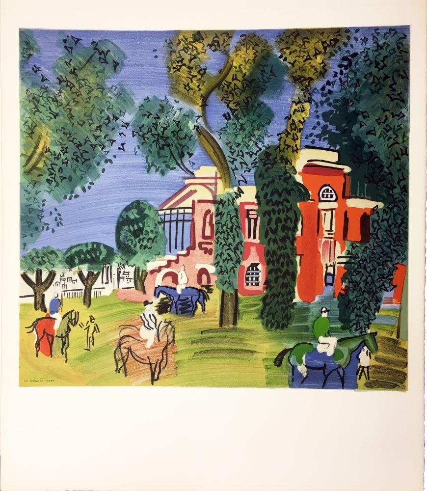 リトグラフ Dufy - LE PADDOCK À DEAUVILLE (1930)