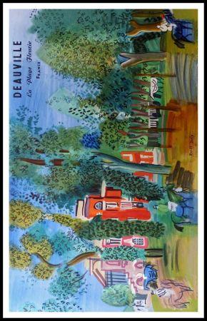 リトグラフ Dufy - LE PADDOCK A DEAUVILLE