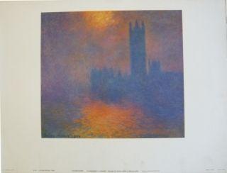 掲示 Monet - Le parlement à Londres
