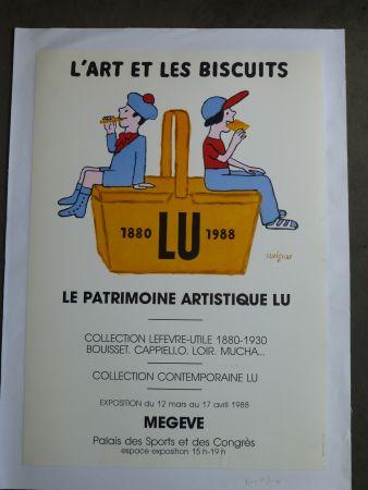 掲示 Savignac - Le patrimoine artistique LU ,l'art et les biscuits
