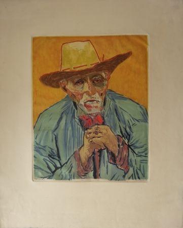 エッチングと アクチアント Villon - Le paysan (d'après Van Gogh)