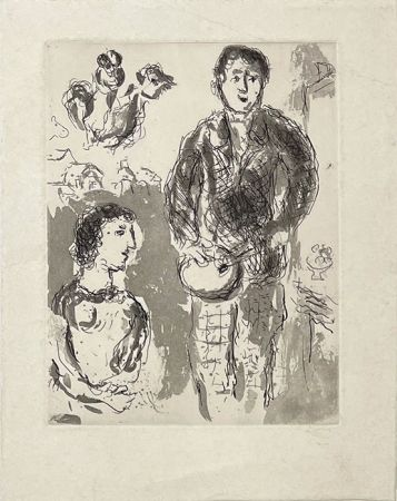彫版 Chagall - Le peintre et son modèle