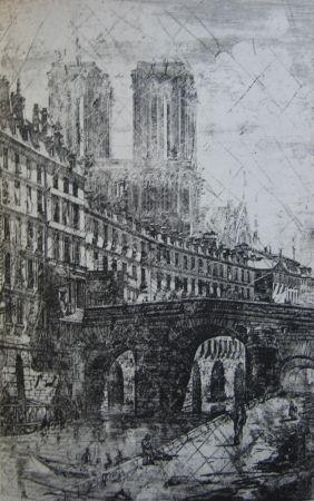 彫版 Meryon - Le Petit Pont, Paris