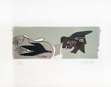 リトグラフ Braque - Le Poète