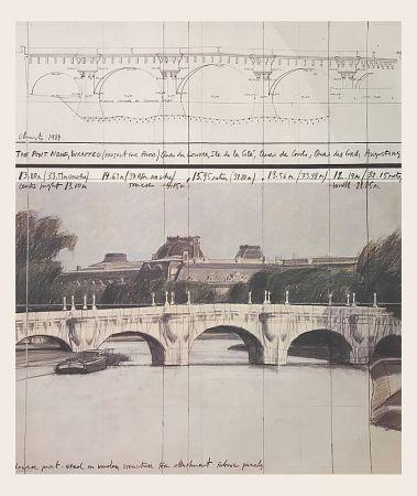 オフセット Christo - Le Pont neuf emballé