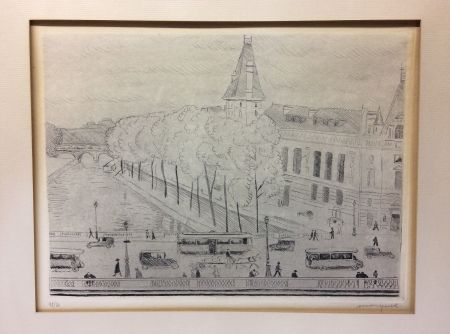 エッチング Marquet - Le Pont Saint-Michel, Paris. 1929. Signé et numéroté