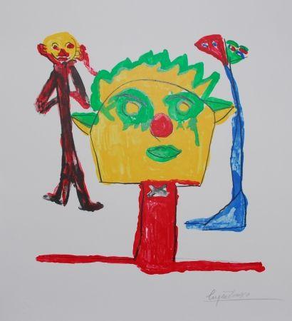 リトグラフ Ionesco - Le portrait et ses fils