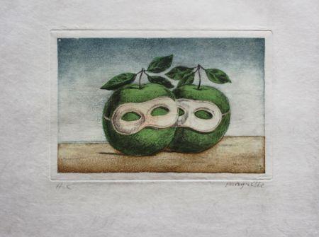 エッチングと アクチアント Magritte - Le Prêtre Marie