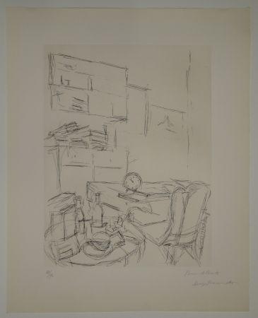 エッチング Giacometti - Le Réveil dans la chambre rue Hippolyte Maindron / Le Réveille-matin (The Alarm Clock).