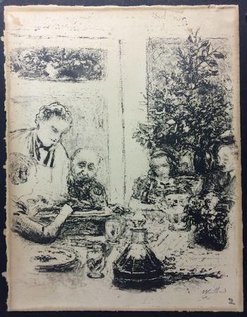 リトグラフ Vuillard  - Le repas