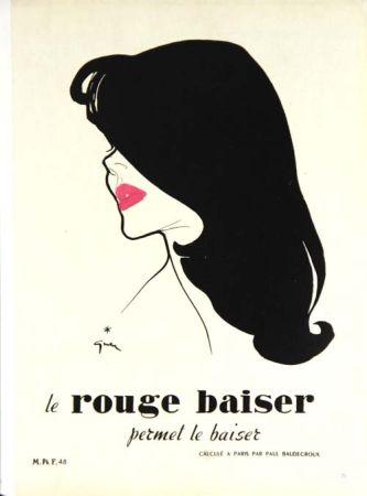 オフセット Gruau - Le Rouge  Baiser  Permet le Baiser