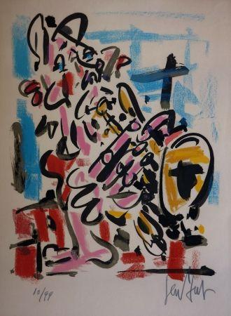 リトグラフ Paul  - Le Saxophoniste / The Saxophonist