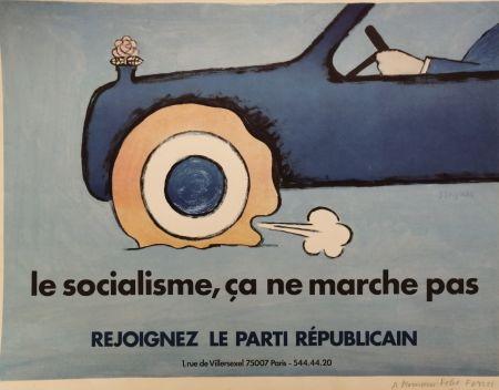 リトグラフ Savignac - Le Socialisme, ça ne marche pas