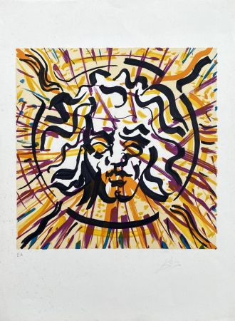 リトグラフ Dali - Le Soleil (Les Vitraux)