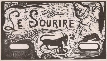 木版 Gauguin - Le Sourire