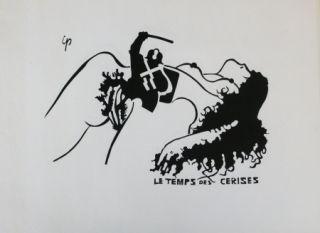 リトグラフ Ipousteguy - Le temps des cerises -  mai 1968
