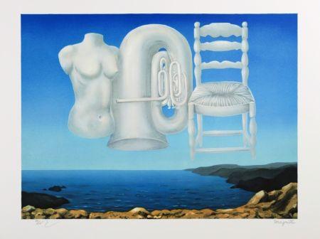 リトグラフ Magritte - Le Temps Menaçant