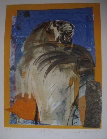リトグラフ Pomar - Le tigre