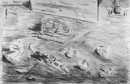 リトグラフ De Pisis - Le trappole